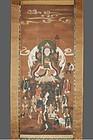 Scroll painting, Benzaiten, Japan Edo period, 1700s