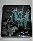Suzuribako, heron and iris, mother-or-pearl in lacquer, Kimura Gasan