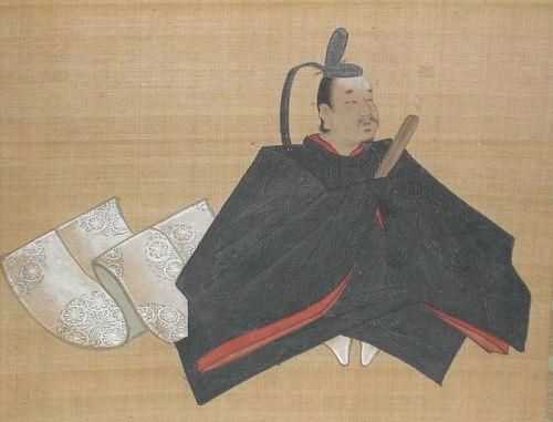 Scroll painting, portrait of Sugawara Michizane, by Yuho Issho, Japan