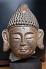 Stone head of Buddha, China, Liao dynasty