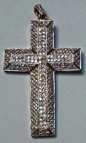 Vintage pave Diamond cross approximately 5 cts