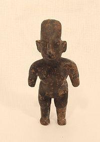 Jalisco Pre Columbian female dwarf standing figure