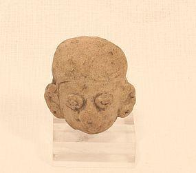 Mayan  terracotta head fragment