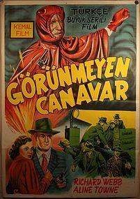 Serial Movie Poster The Invisible Monster / Phantom Ruler USA 1950 v2