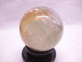 large Fluorite sphere in pale green