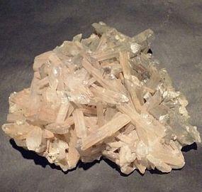 Quartz Crystal and black Tourmaline specimen v0