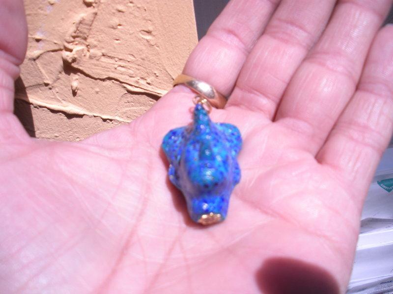 Ancient style Egyptian Pharaoh  paste Glass head pendant