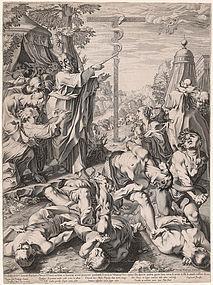 Moses and the Brazen Serpent c 1597 Francesco Villamena Italian