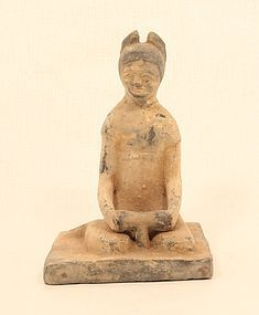 Han Dynasty style Terracotta Model of a seated Woman