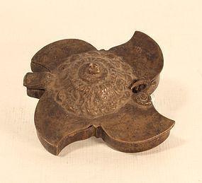 India Small Brass Tika Box