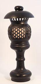 19th c Meiji Dynasty Bronze altar Temple Toro - Lantern in Bronze