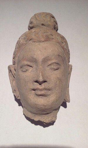 Gandharan Kushan Period 2-3c Stucco Buddha head