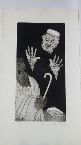 """Ben Zion """" The Life of A Prophet"""" Etching X """" Facing The Judge"""""""