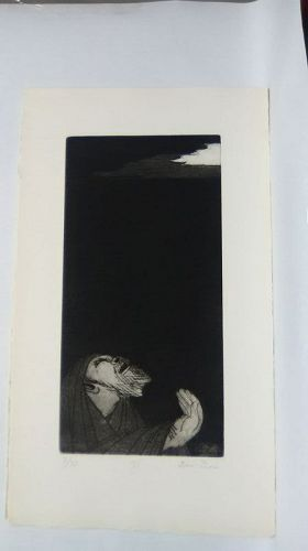 """Ben Zion """" The Life of A Prophet"""" Etching """" From Whence Cometh My """" v1"""