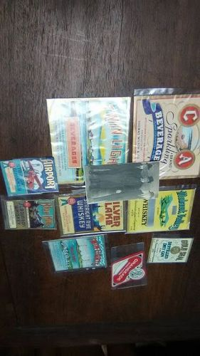 Group lot of Vintage Liquor labels
