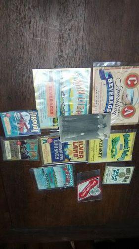 Group lot of Vintage Liquor labels