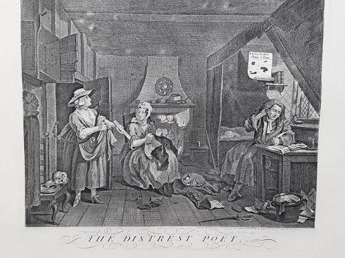 """William Hogarth"" The Distrest Poet Heath ed"