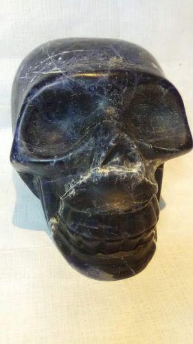 Vintage Hand carved Sodalite - Lapis Skull