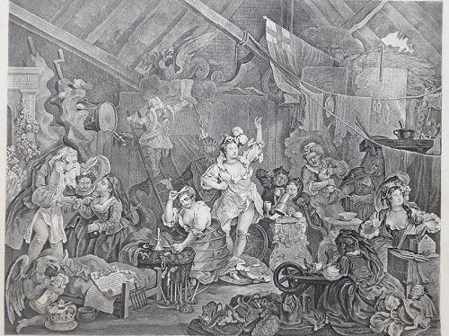 """""""William Hogarth"""" Strolling Actresses Dressing in a Barn Heath ed"""