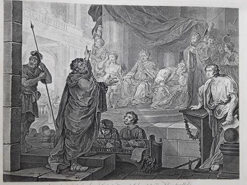 """William Hogarth"" Paul before Felix, Plate 2 Heath ed"