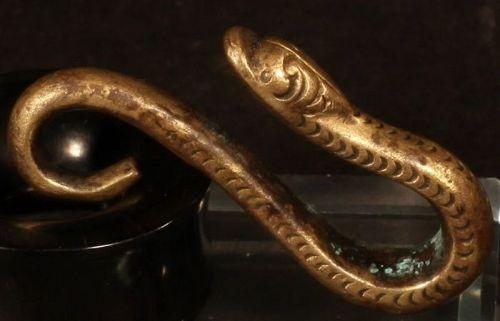 Moche gilt metal snake Belt-Sash hook 5 cm