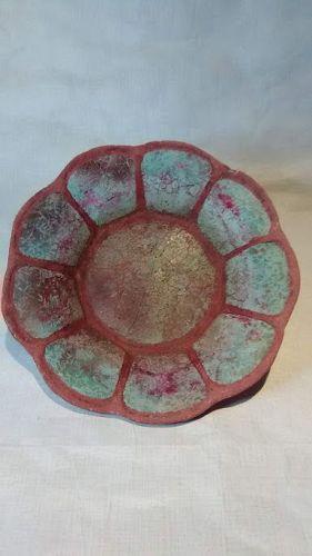 Rorke�s Drift ELC raku Zulu ceramic plate