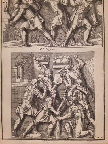 18thc Neoclassical engraved Roman soldier Prints designer lot #204