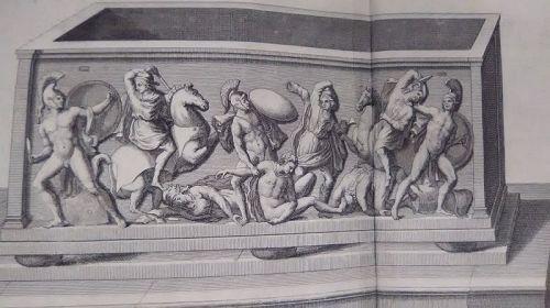 18thc Neoclassical engraved Roman soldier Prints designer lot #209