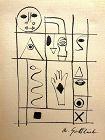 Adolph Gottlieb (American, 1903�1974) Hieroglyph ink on paper , 1944