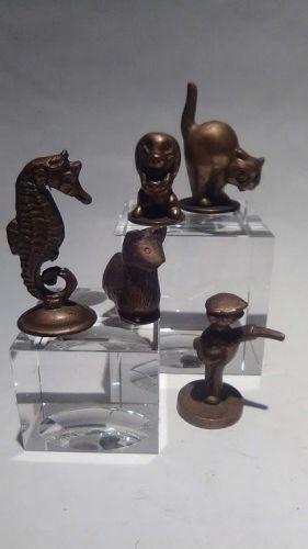 Vintage group lot of figural pipe tampers