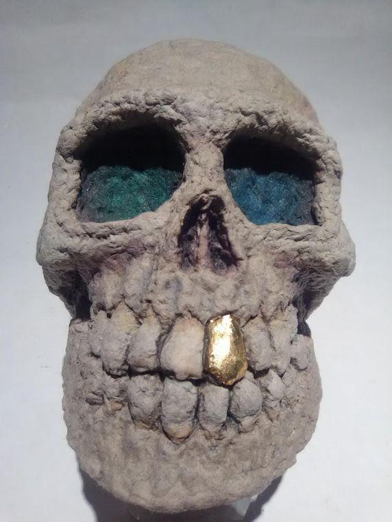 "Michael Lee Ford Outsider folk Prison art ""skullpture"""