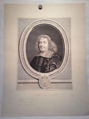 Antoine Barillon de Morangis  by Robert Nanteuil 1626-1657