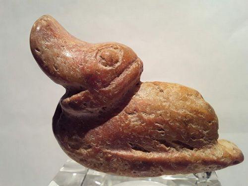 Hongshan seated duck Figure Pendant Tremolite deposits