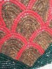South West American Beaded buckskin tassel panel
