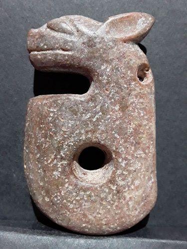 Hongshan nephrite Jade Zhulong pig dragon toggle pendant