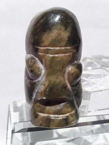 Hongshan nephrite Jade ax face toggle pendant