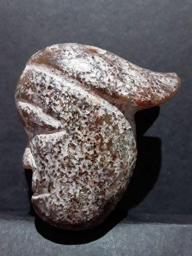 Hongshan Nephrite Jade Toggle pendant with Tremolite