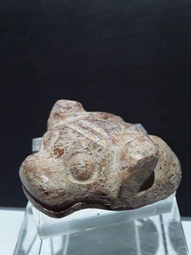 Hongshan Red Brown Nephrite Jade Cicada Dragon  Toggle Pendant