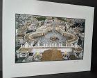 "Garry Seidel ""Vatican at Dusk"" Hand colored art Photograph signed"