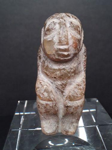 Hongshan Nephrite Jade Toggle Pendant of a Goddess