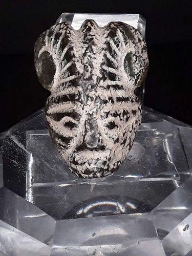 Neolithic Hongshan Nephrite Jade Deity Mask Pendant