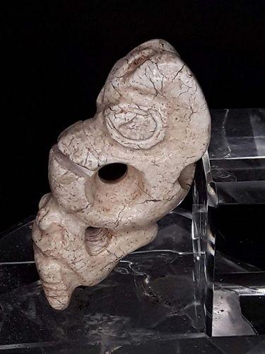 Hongshan Chicken Bone Jade Double Pig Dragon Pendant