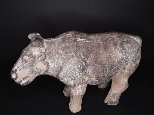 Chinese Tang Dynasty terracotta model of an Ox