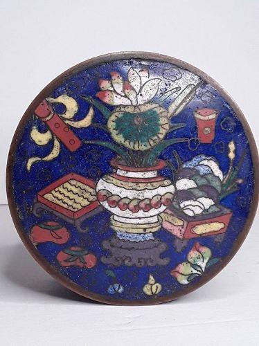 Ming -Qing Dynasty Cloisonné Scholars Ink box