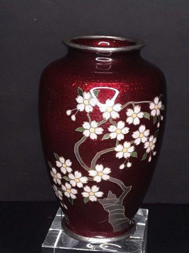 Antique Japanese Inaba  Cloisonné vase