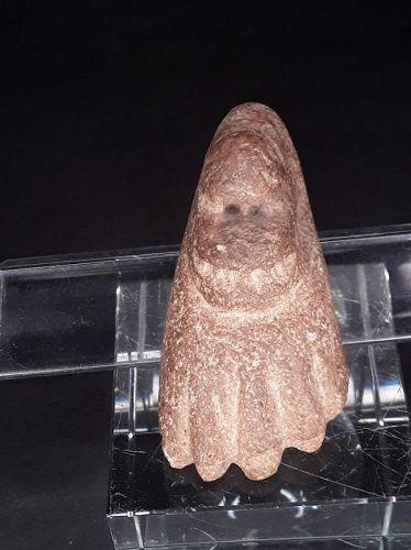 Pre Columbian Volcanic stone foot offering effigy