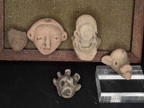 Mexican Pre Columbian Tlatilco Terracotta nice heads Group lot 5