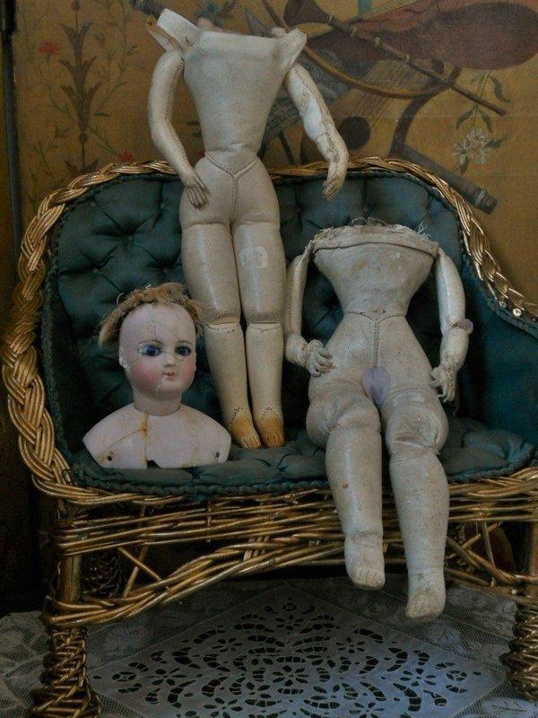 Attic Found French Poupee Body-Lot