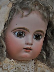 Beautiful Large Childlike French Bisque Bebe by Gaultier