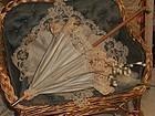 Beautiful Jumeau Silk Parasol